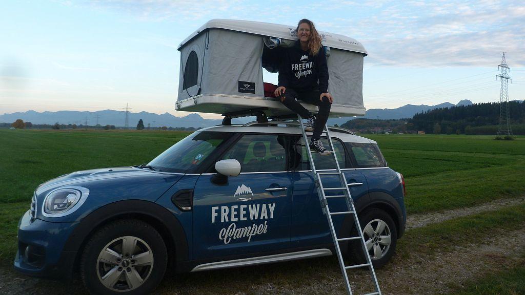 FreewayCamper Campingabenteuer alleine mit dem MINI Countryman