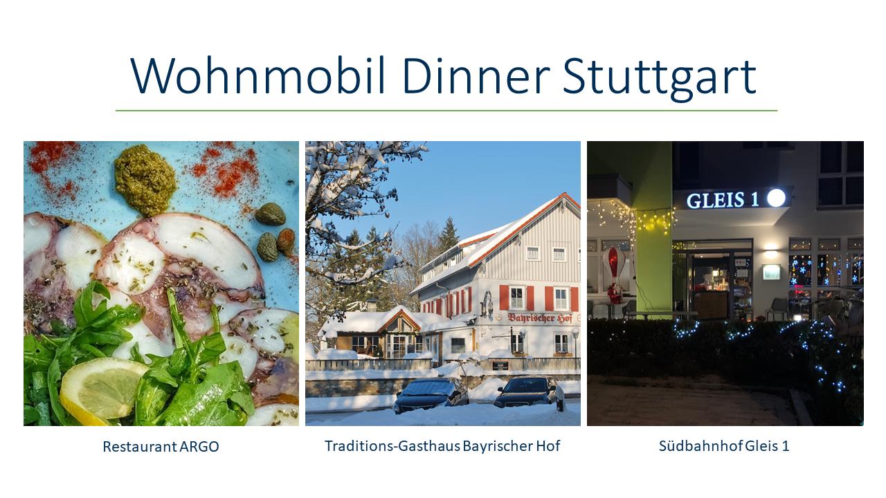 Wohnmobil Dinner Stuttgart